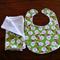 Christmas bib & burp cloth set - Santa Claus motif